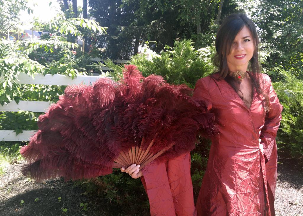 Ostrich Feather Fan - NJ